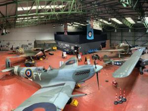 interior of hanger